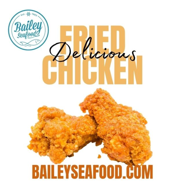 💥*BREAKING NEWS*  FRIED CHICKEN is available on our menu!! Hand breaded using our own spice blend...guaranteed juicy on the inside, crispy on the outside. . Use coupon code 'baileyseafood' for 15% OFF your online pickup order from our website (expires Thursday) . 📱baileyseafood.com 716-833-1973 . . . . . #baileyseafoodfresh #buffalolove #buffalofood #716 #friedchicken #bestinbuffalo #buffalobills #delivery #takeout #spicy #crispy