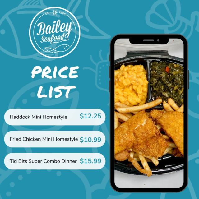 💥 We have dishes of any size depending on your appetite!  Order online thru our website for quick and easy pickup or delivery!  . Order at baileyseafood.com 📱716-833-1973 ⏰We open at 3pm.  Last order at 7:20pm . . . . . . . . #buffalove #buffalony #stepoutbuffalo #wny #716 #buffalofoodie #gobills #buffaloeats #billsmafia #baileyseafoodfresh